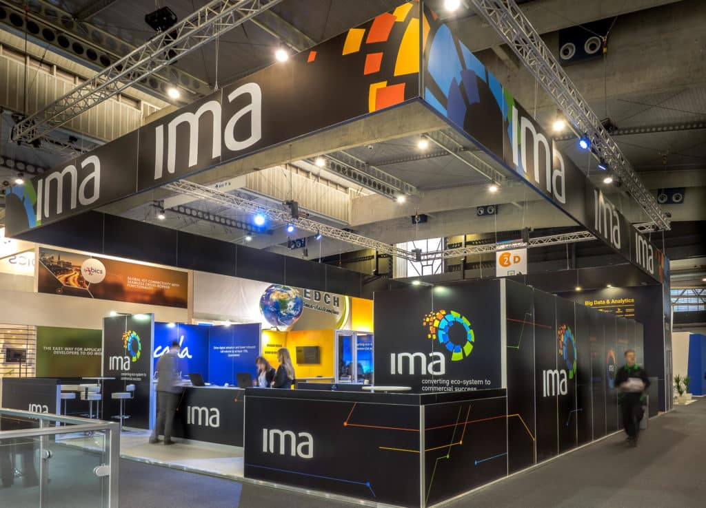 IMA exhibition stand at Mobile World Congress 2017